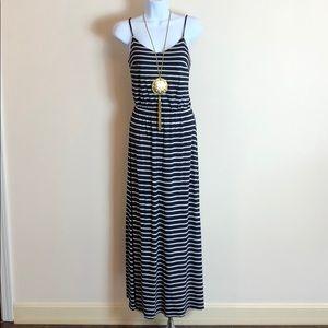 GAP striped maxi tank dress